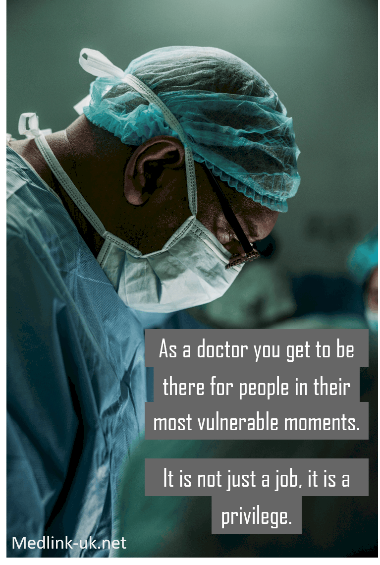 Being a doctor